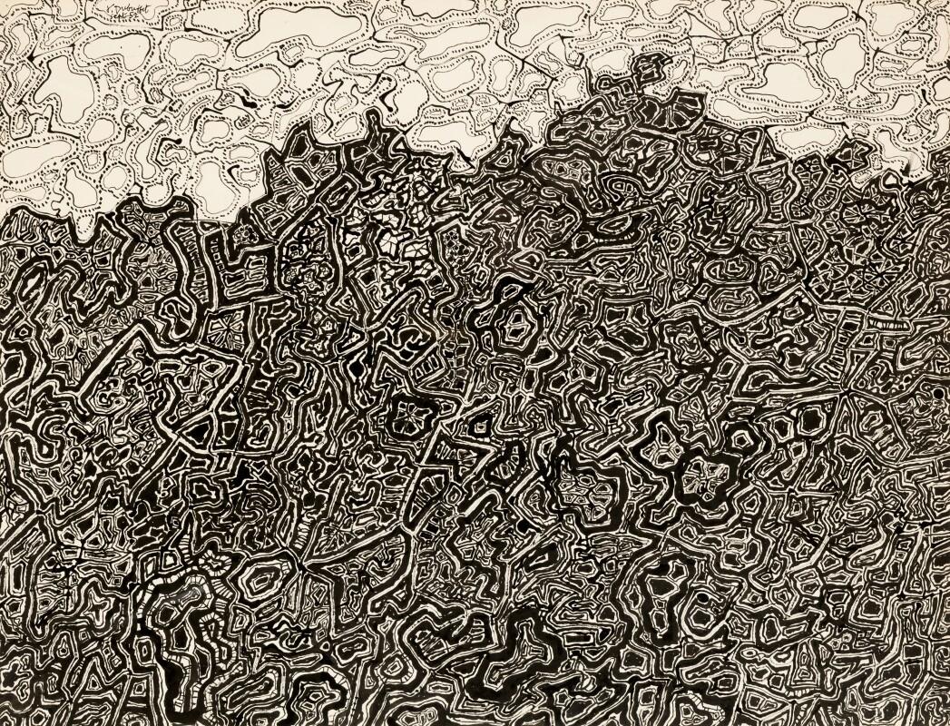 Jean Dubuffet, Eblouissante Gloire De La Terre Et Du Ciel