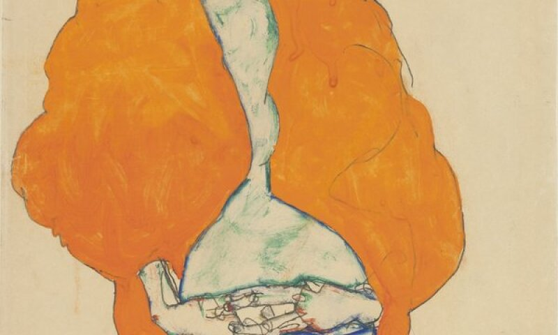Egon Schiele, Standing male figure (self-portrait)