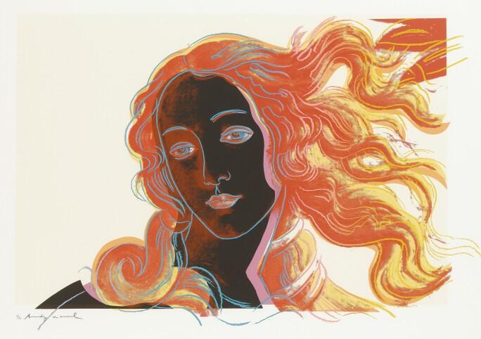 Warhol Pop print of Birth of Venus.
