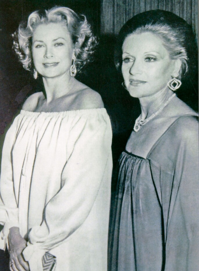 May Arida with Princess Grace of Monaco in 1978