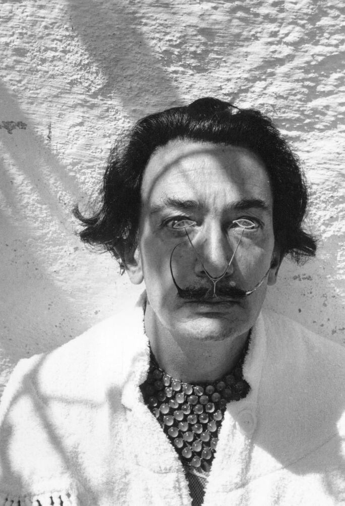 Salvador Dali wearing a customized pince-nez.