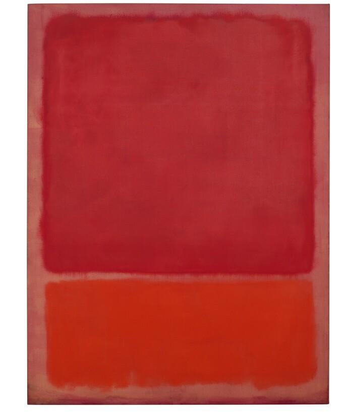 Mark Rothko Untitled (Rot, Orange) 1968