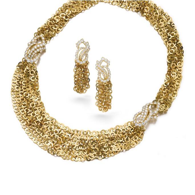 Gold and diamond demi-parure, M. Gérard. LOT SOLD. CHF 32,500