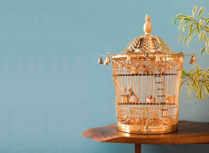 Tiffany silver birdcage in an auction selling Tiffany silverware