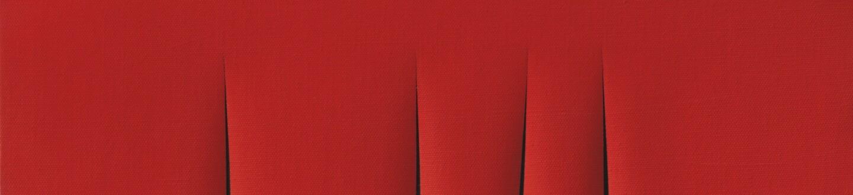 Lucio Fontana, Concetto Spaziale, Attese, 1966. Waterpaint on canvas, signed, titled and inscribed Questo quadro è stato finito un sabato mattina on the reverse.