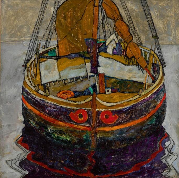 Egon Schiele Trieste Fishing Boat