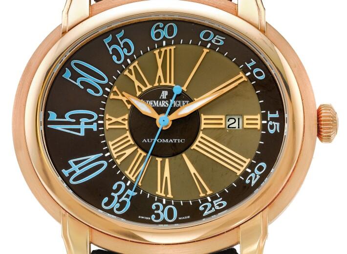 Audemars Piguet Millenary watch dial in an auction selling audemars piguet watches