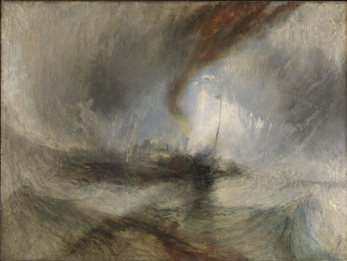 J.M.W. Turner, Snow Storm – Steam-Boat off a Harbour's Mouth (Tate Britain)