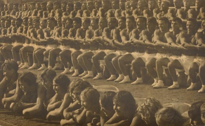 Alexander Rodchenko (1891 - 1956), Na Krasnoi Ploshchadi ritmicheskaia gimnasti[ika] (On Red Square Rhythmic Gymnastics), 1936. Estimate €50,000-80,000.