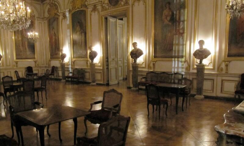 Interior view of the Musée des Arts décoratifs in Strasbourg.