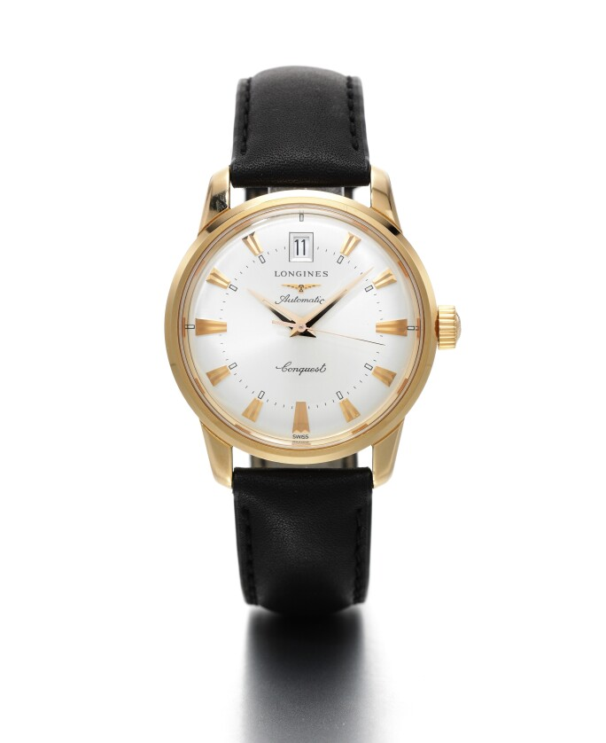 Longines, Conquest Heritage, Reference L16'118'784  Pink Gold Automatic Wristwatch with Date, circa 2012.