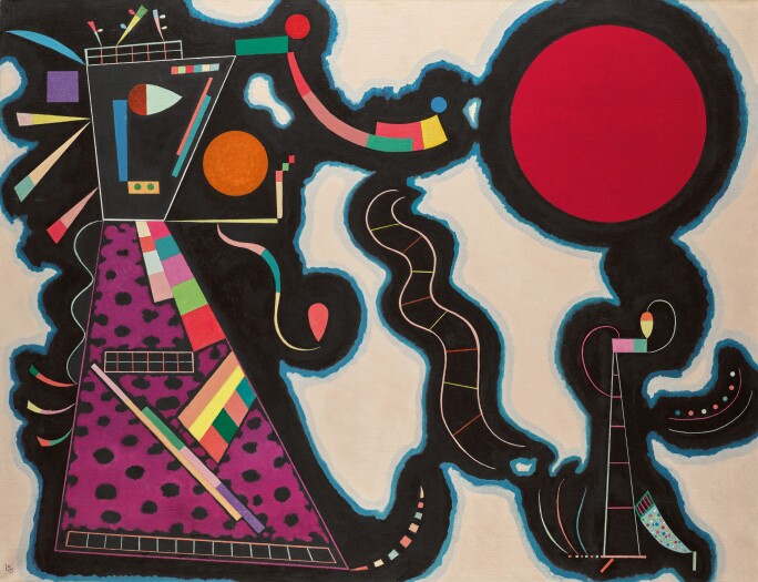 Wassily Kandinsky, Le rond rogue, 1939.