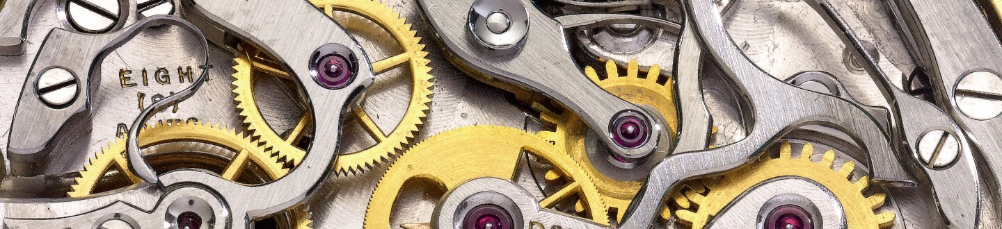 Detail of the gears of a tourbillon by patek philippe in an auction selling watches