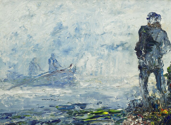Jack Yeats painting in an auction selling Irish art
