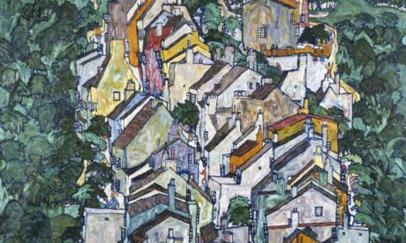 Egon Schiele (1890-1918), Town among Greenery (The Old City III)