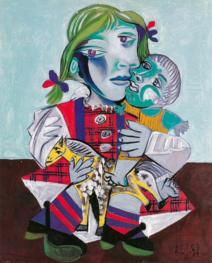 picasso-femme-au-chien-maya-toy-horse-doll.jpg