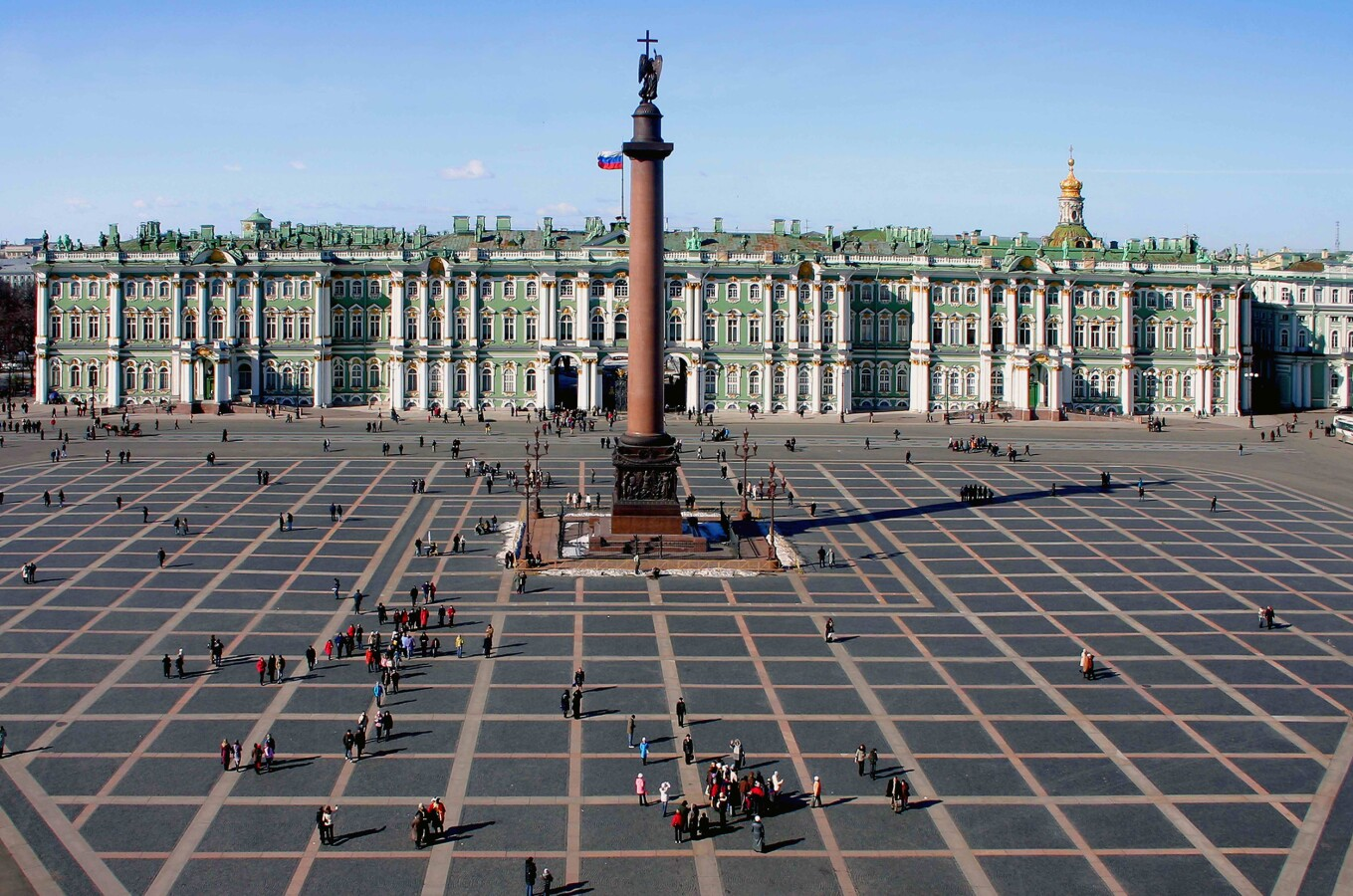 Dvortsovaya Square, with the Alexander Column Monument in front of the Winter Palace