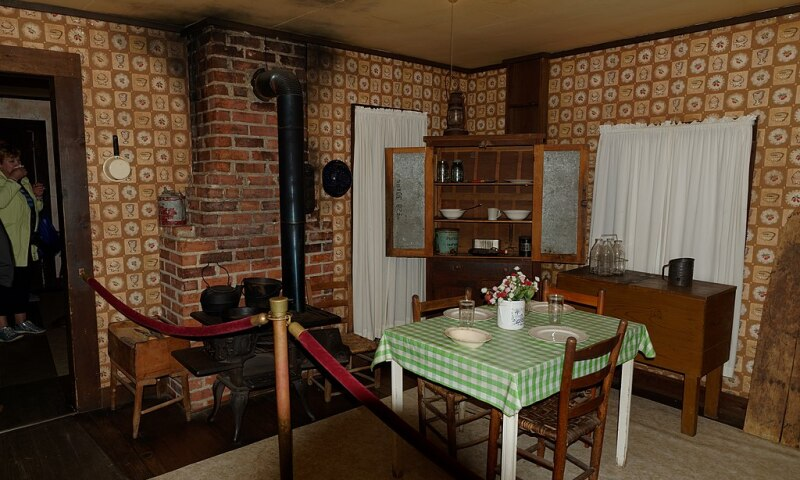 Interior view of the Elvis Presley Birthplace & Museum in Tupelo, Mississippi.