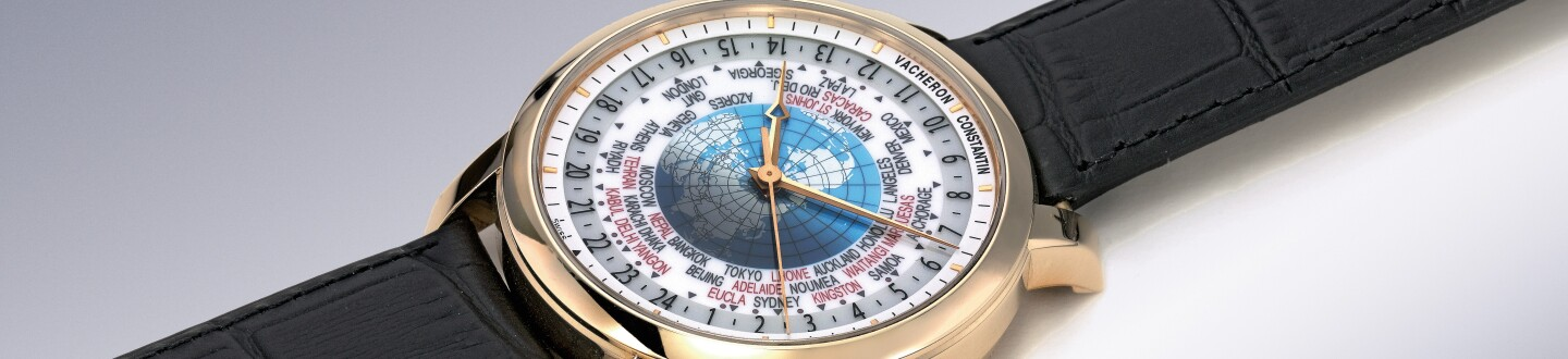 A Vacheron Constantin world time watch in an auction selling vacheron constantin watches