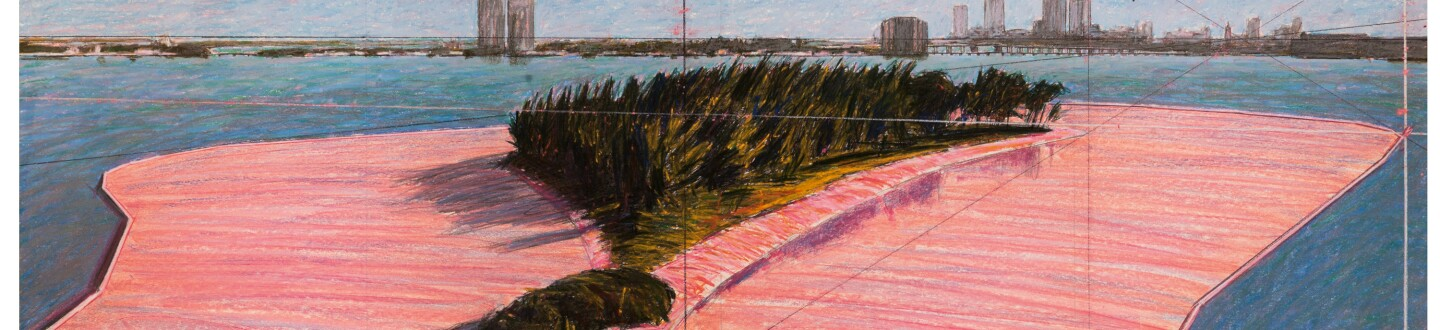 Christo Jeanne-Claude Surrounded Islands Project for Biscayne Bay Miami Florida