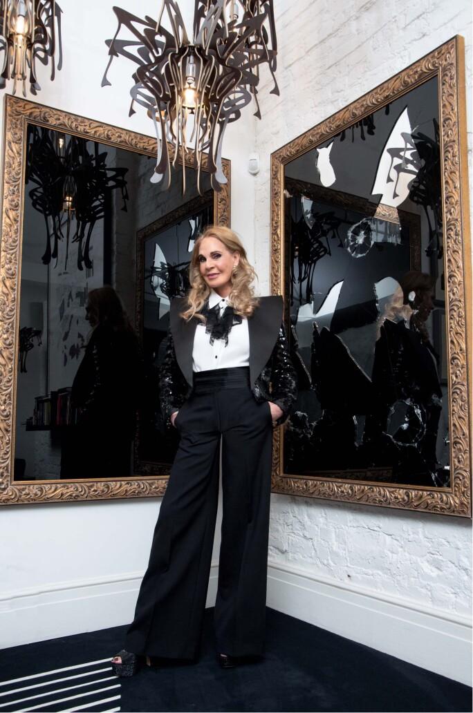 Collector Tiqui Atencio in her London home