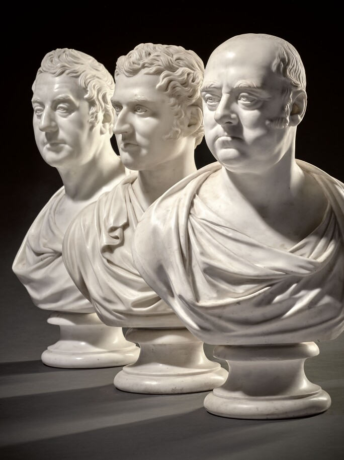 From an important collection of portrait busts by Joseph Nollekens, Busts of Sir John Rous,  Samuel Bateman-Dashwood and Lord George Augustus Henry Cavendish.  Estimates from £7,000-30,000.