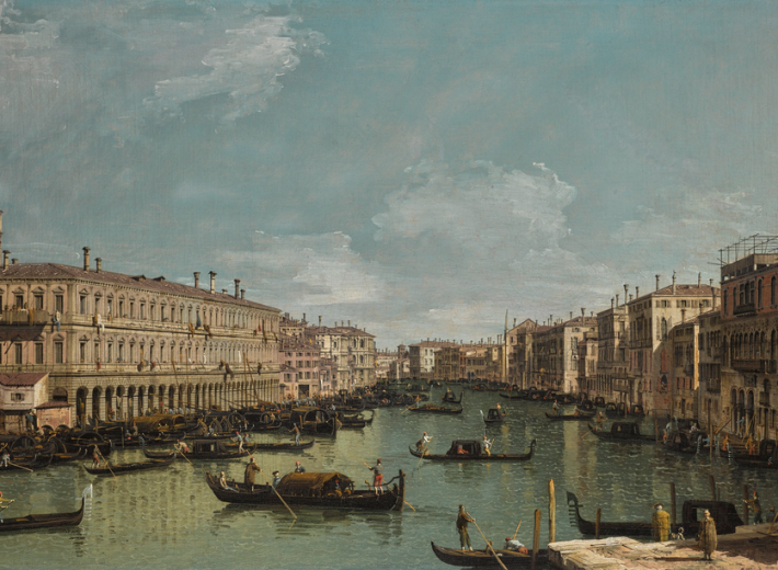 Canaletto Venetian scene in an auction selling Italian old master paintings