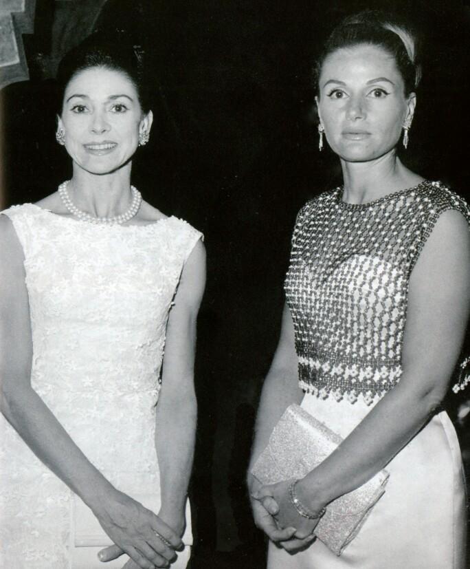 May Arida with Margot Fonteyn at Baalbeck in 1964.