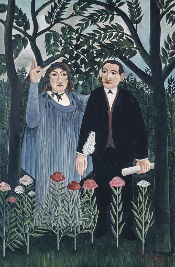 Henri Rousseau (le Douanier); La muse inspirant le poète; 1909