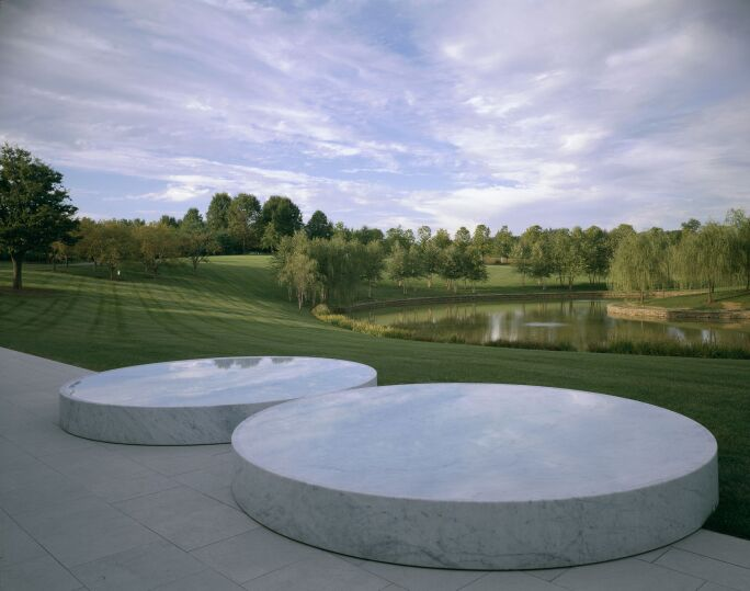 Felix Gonzalez-Torres's Untitled, 1992–95, installed on Glenstone's grounds