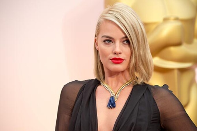 HOLLYWOOD, CA - FEBRUARY 22:  Margot Robbie attendst the 87th Annual Academy Awards at Hollywood & Highland Center on February 22, 2015 in Hollywood, California.   People:  Margot Robbie