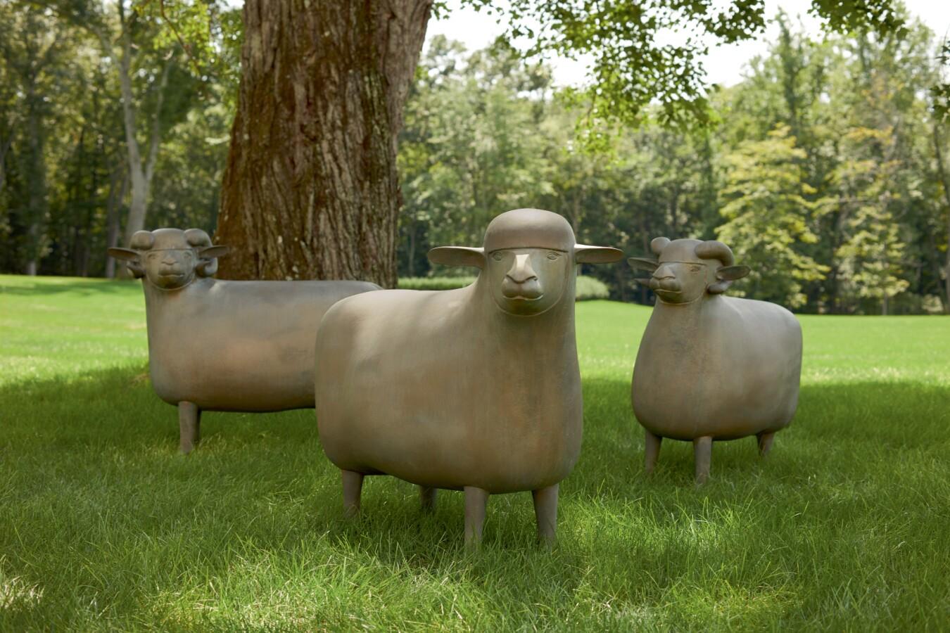 """François-Xavier Lalanne, Three """"Grands Moutons De Peter."""" Estimate $1,200,000–1,800,000."""