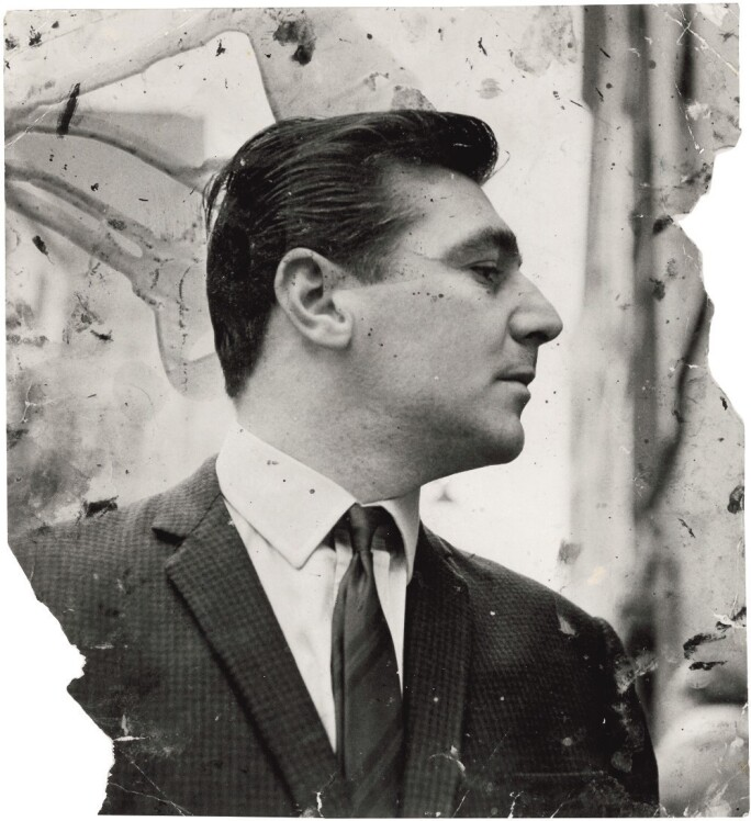 Black and white photograph of George Dyer
