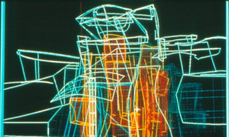 Frank Gehry, Building plan digital drawing of the Guggenheim Museum Bilbao