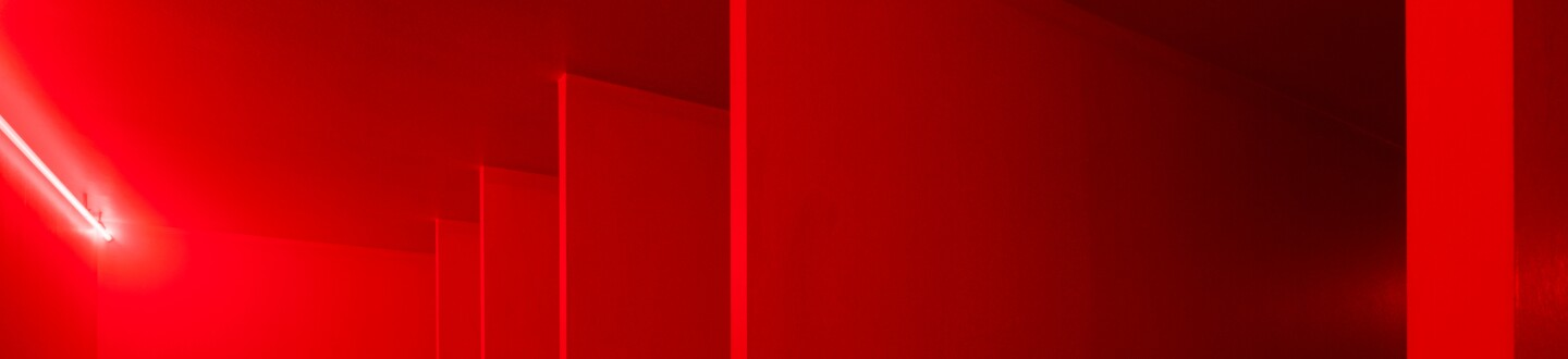 Lucio Fontana, Spatial Environment in Red Light, 1967/2019.