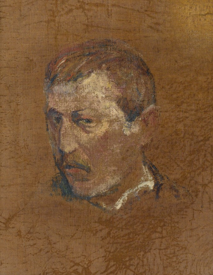 Paul Gauguin, Deux esquisses d'autoportrait (self portrait on reverse). Estimate  €600,000-900,000