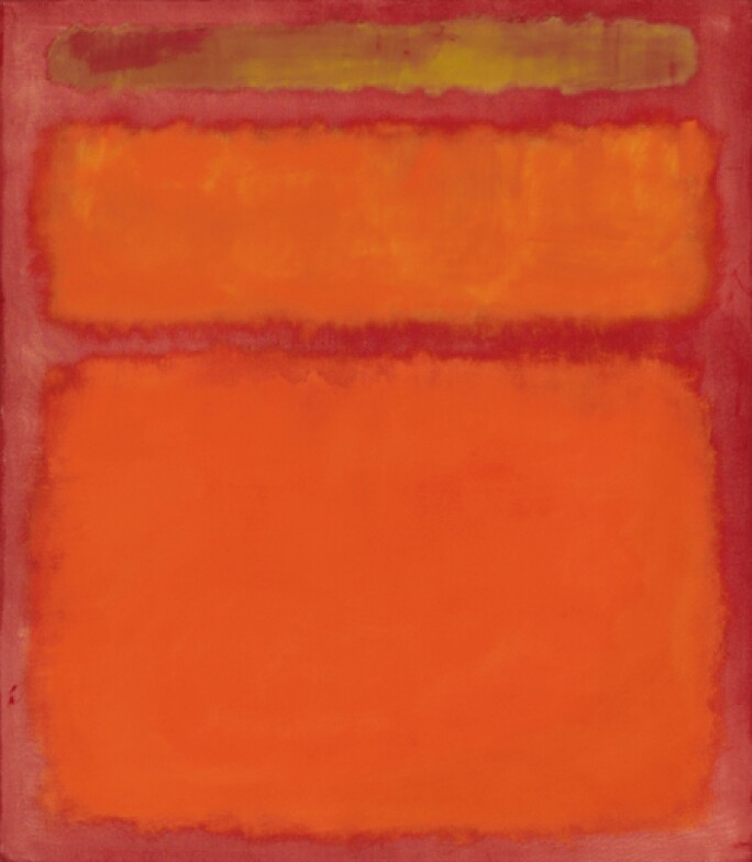 Mark Rothko's painting, Orange, Red, Yellow, 1961 (oil on canvas)