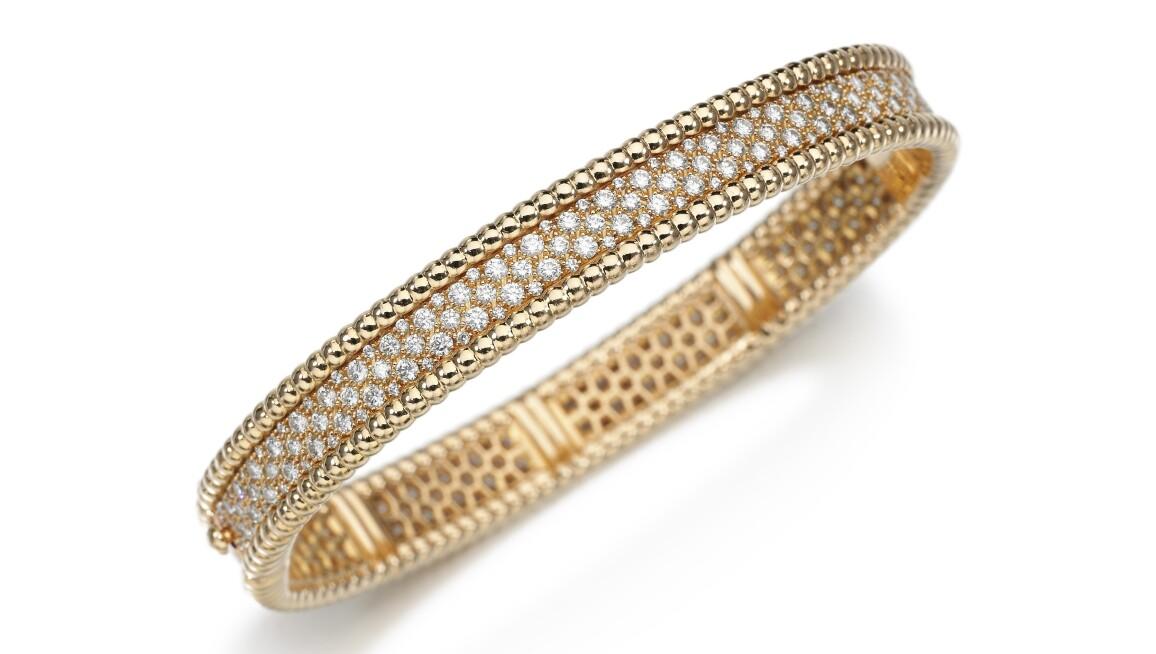 Van Cleef & Arpels diamond and gold bangle
