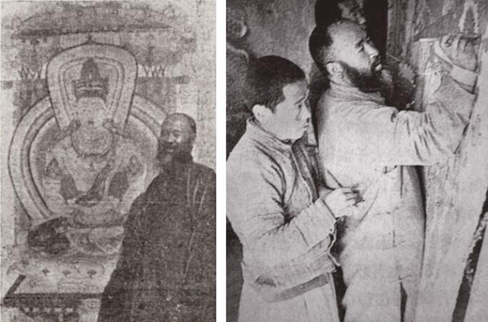 Zhang Daqian at Dunhuang pair.jpg