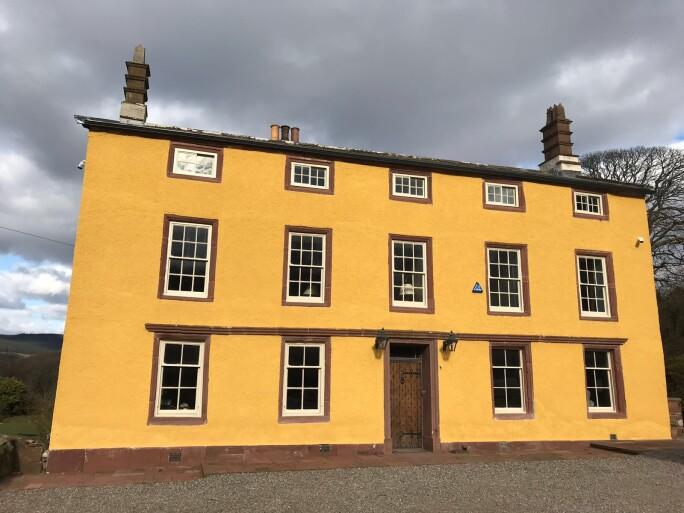 Exterior of Haile Hall in Cumbria