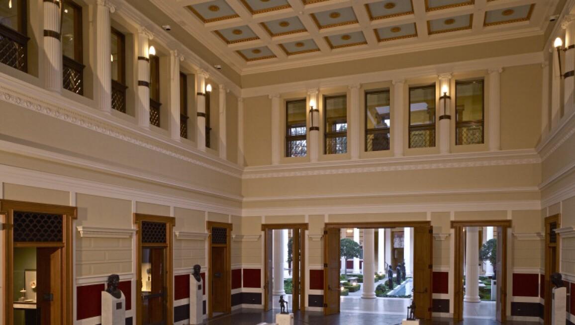 Interior View, J Paul Getty Museum at the Getty Villa