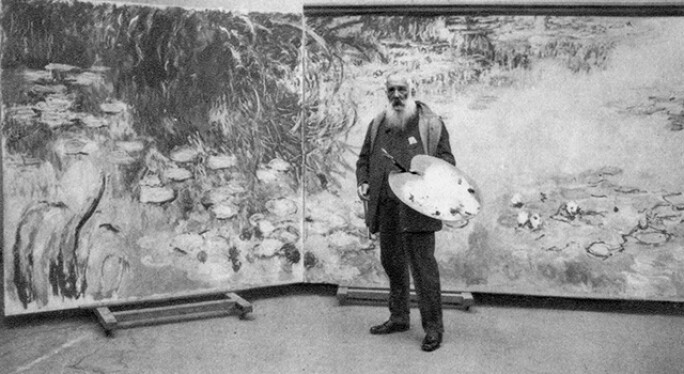 Claude Monet, French Impressionist painter, 1923.