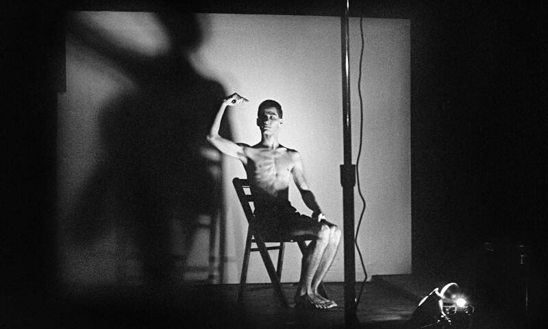 Acts of Live Art at Club 57. Pictured- Larry Ashton. 1980. Photograph by and courtesy Joseph Szkodzinski.jpg
