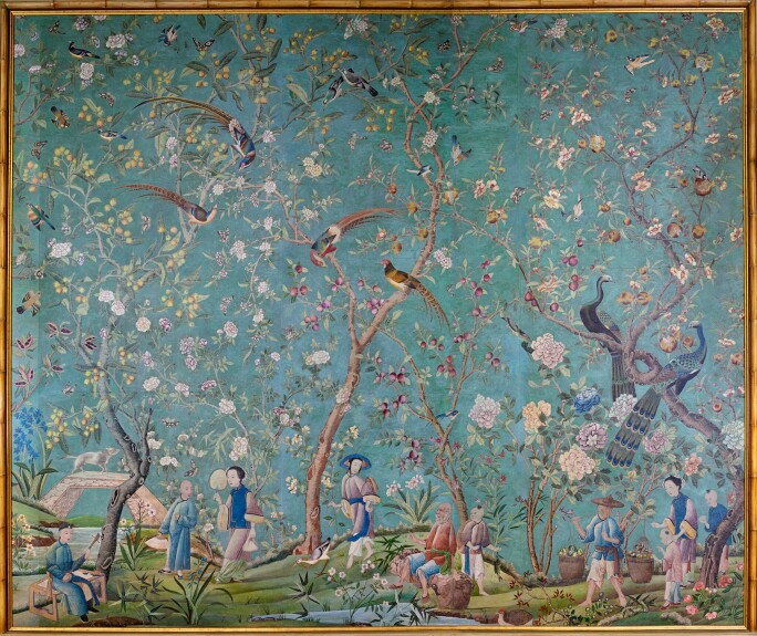 Qing Dynasty Qianlong wallpaper panels