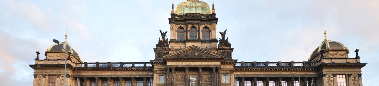 Exterior view of the National Museum of Prague, Wenceslas Square.