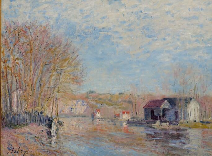 10067 Sisley, Les Hautes eaux à Moret-sur-Loing.jpg