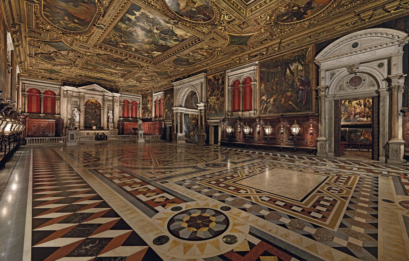 The Salone Superiore in the Scuola Grande di San Rocco