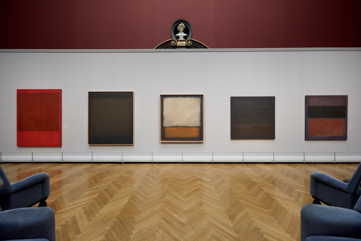 mark rothko's on wall