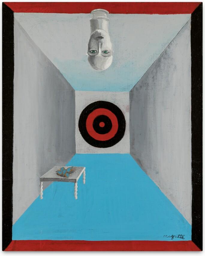 René Magritte, La salle d'armes. Painted in 1925 or 1926.  Estimate €700,000 - 1,000,000