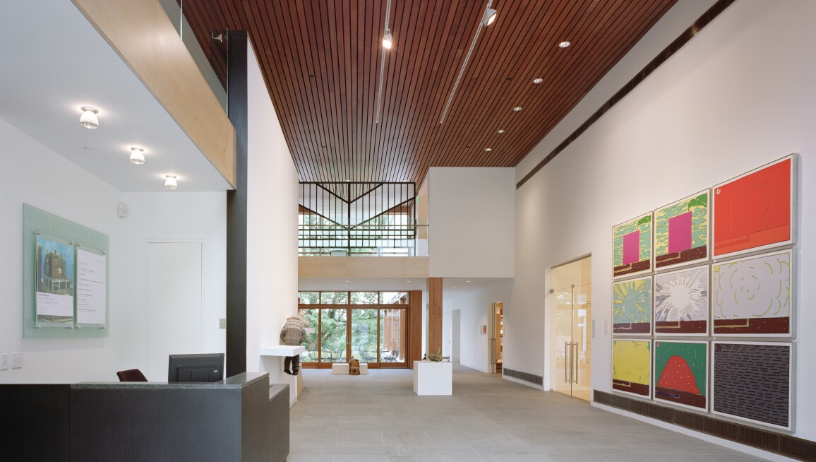 Interior view of The Aldrich Contemporary Art Museum